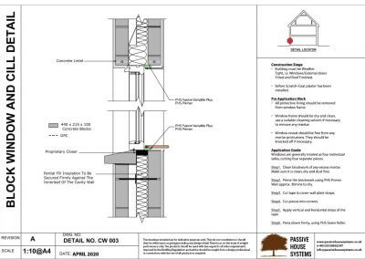 Block Window and Cill Detail-Passive House Systems