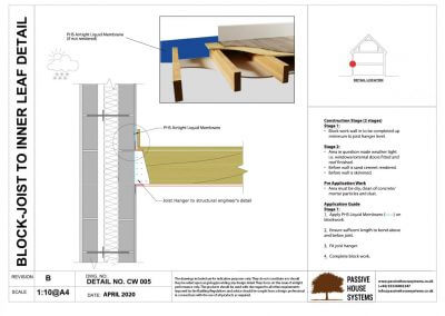 Block-Joist to Inner Leaf Detail-Passive House Systems