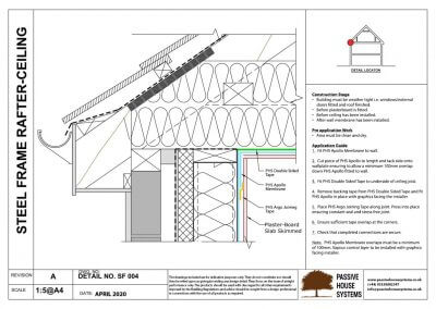 Steel Frame Rafter Ceiling -Passive House Systems