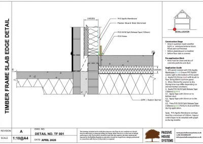 Timber Frame Slab Edge Detail - Passive House Systems