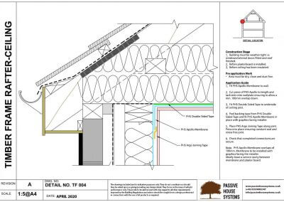 Timber Frame Rafter Ceiling - Passive Houses Systems